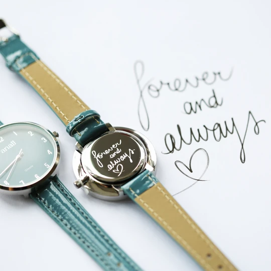Own Handwriting Anaii Watch in Jupiter Teal 1