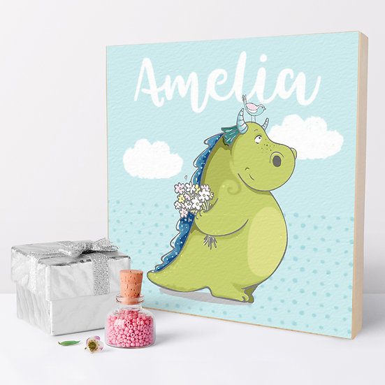 Personalised 'Dragon' Picture Blocks