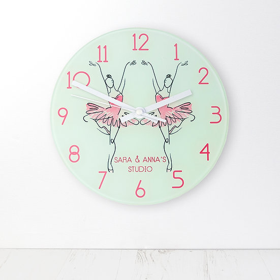 Graceful Ballet Dancer Personalised Wall Clock view 1