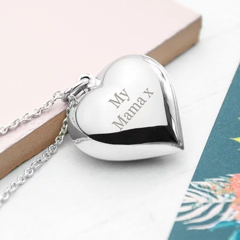 Personalised Cherished Heart Silver Necklace