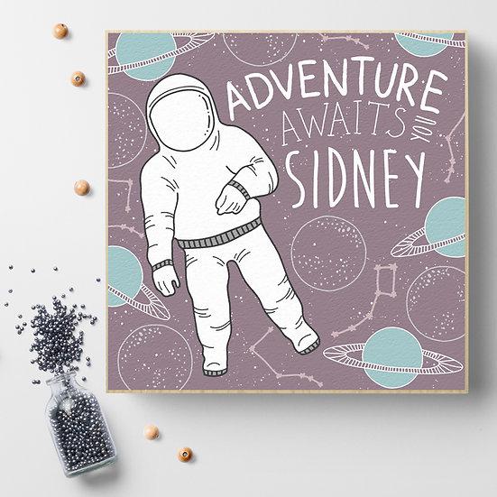 Personalised 'Space Adventure' Picture Blocks