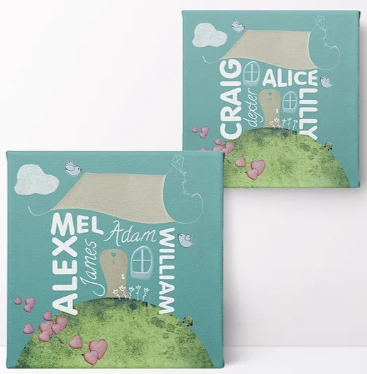 Personalised Family Home Prints and Canvases