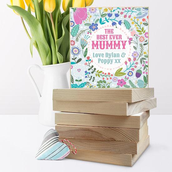 Personalised 'Summer Flowers' Picture Blocks