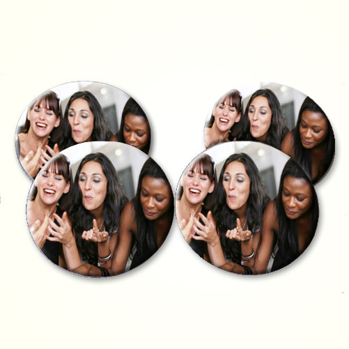 Personalised Colour Photo Set of Four Coasters