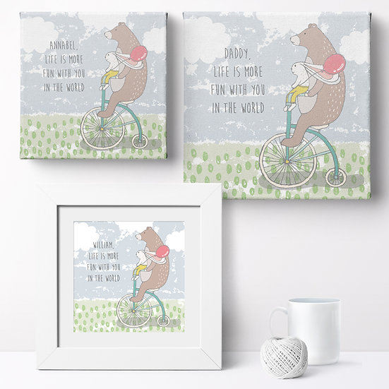 Personalised 'Life Is More Fun With You' Prints and Canvases 1