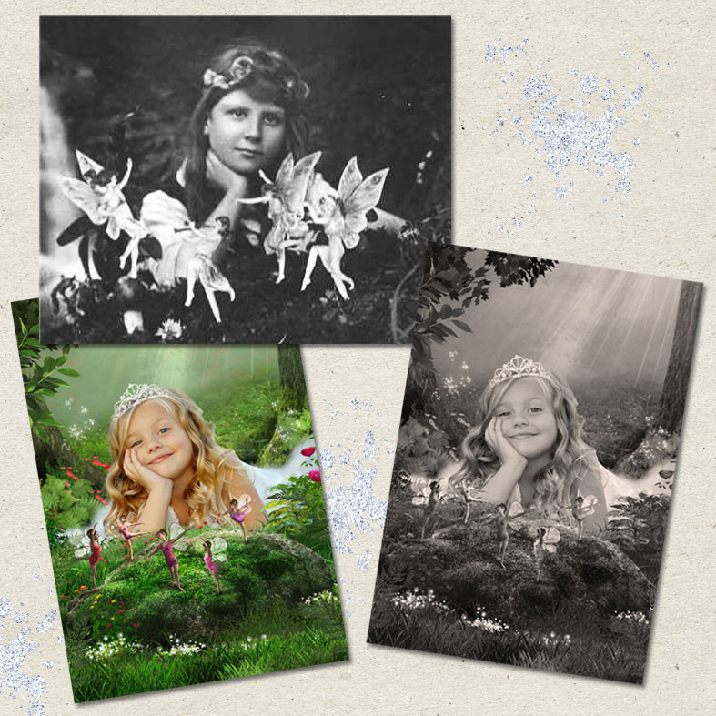 Fairies image comparing with the original