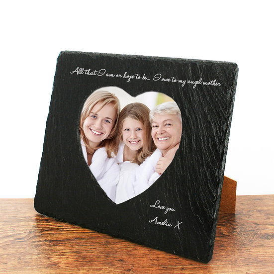 Angel Mother Heart Slate Photo Frame 1st View
