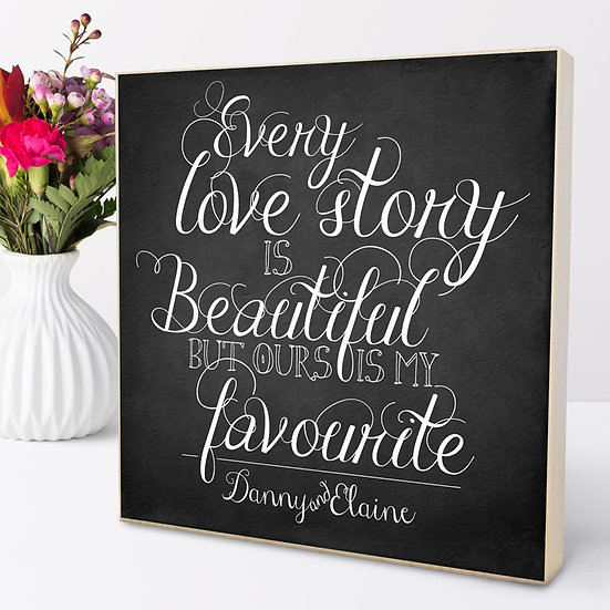 Personalised 'Love Story' Picture Blocks