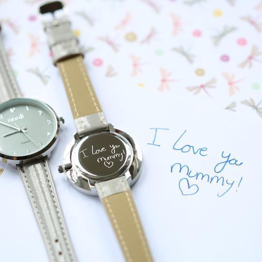 Anaii Flint Grey Watch Own Handwriting Rear View