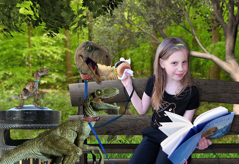 Fantasy & Fairytale Portraits - 'Dinner With My Pet Dinosaurs' 1st Image