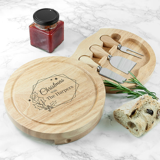 Personalised Christmas at Home Cheese Set Second View