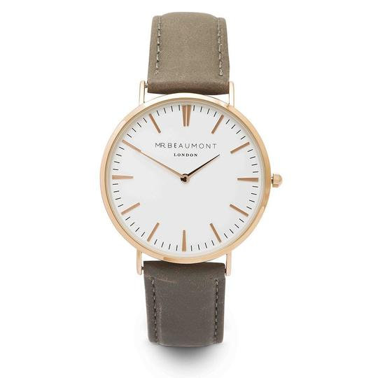 Men's Personalised Bezel Watch from Mr Beaumont in Grey Gold 1