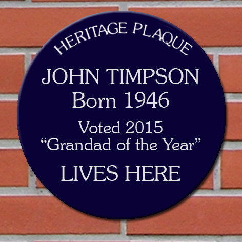 Personalised Heritage Blue Plaques image 1