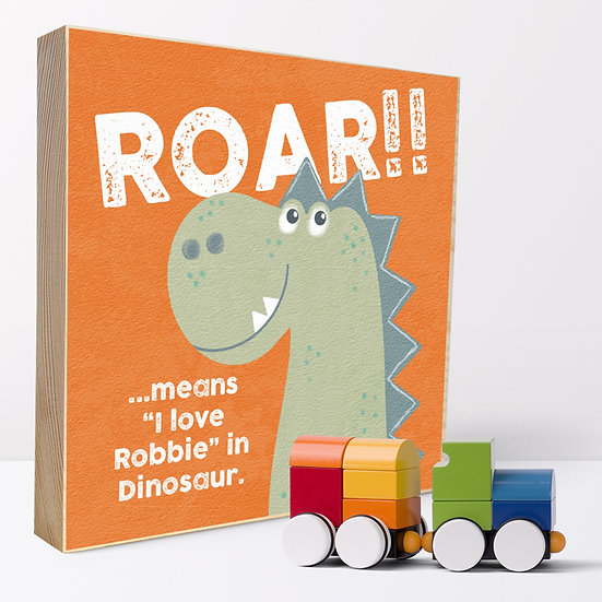Personalised 'Dinosaur Roar' Picture Blocks