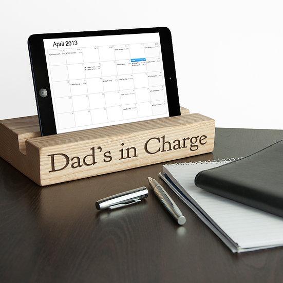 Personalised Single Office Desk Tablet Holder