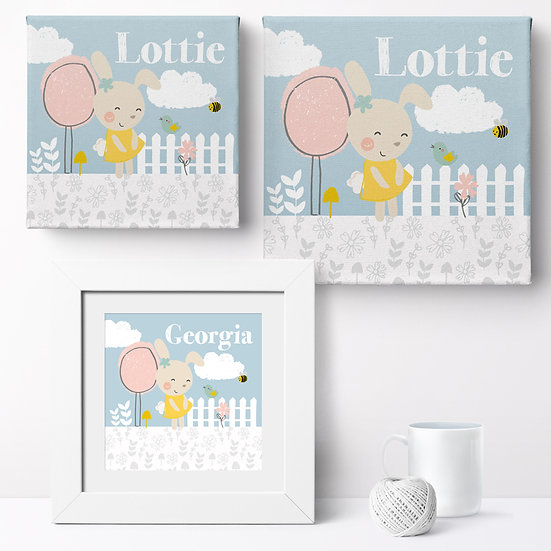 Personalised 'Summer Garden' Prints and Canvases