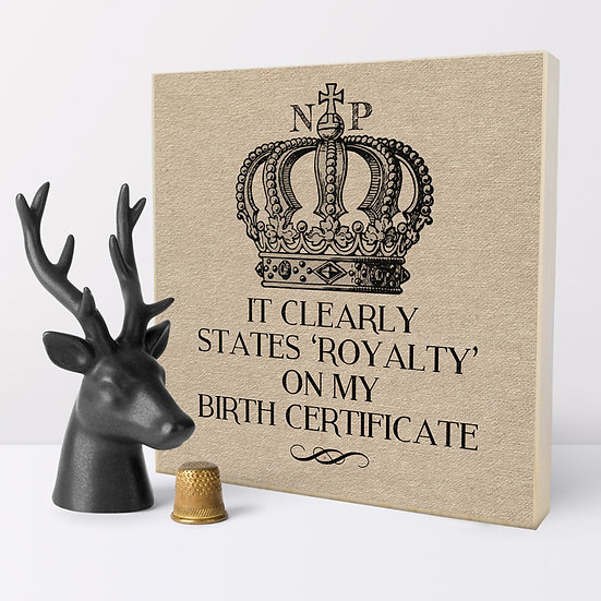 Personalised 'Royalty' Picture Blocks