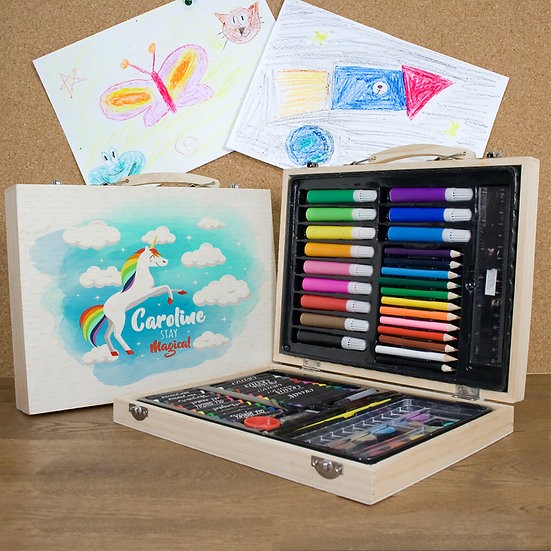 Personalised Rainbow Unicorn Colouring In Set 1st View
