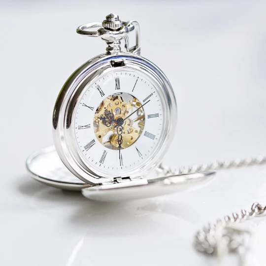 Personalised Engraved Pocket Watch Front View
