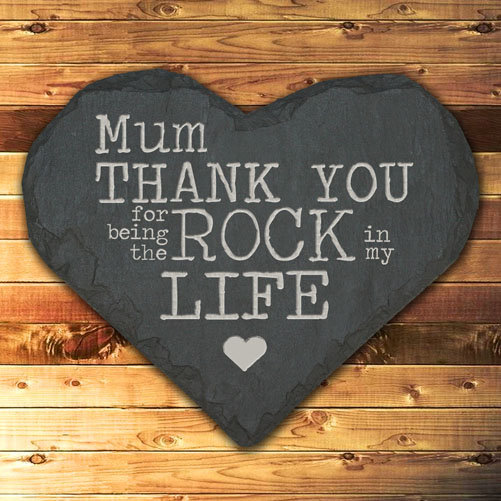 Personalised Thank You Mum Slate Heart Keepsake 1st View
