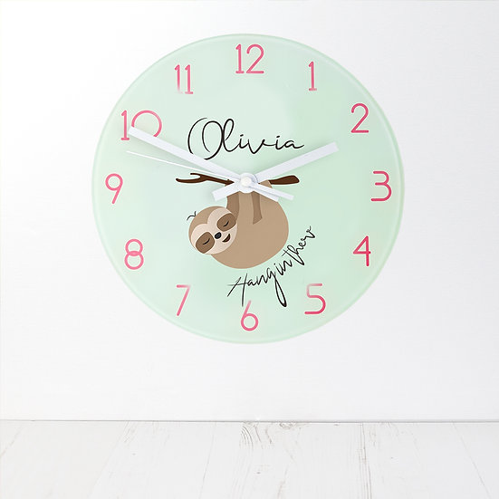 Personalised Hang In There Wall Clock