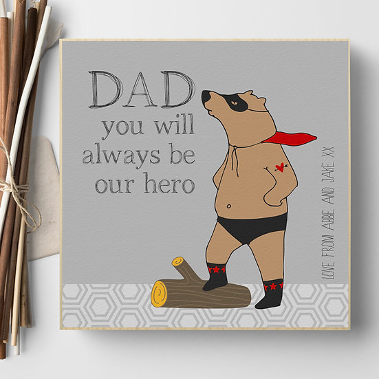 Personalised 'Superbear' Picture Blocks