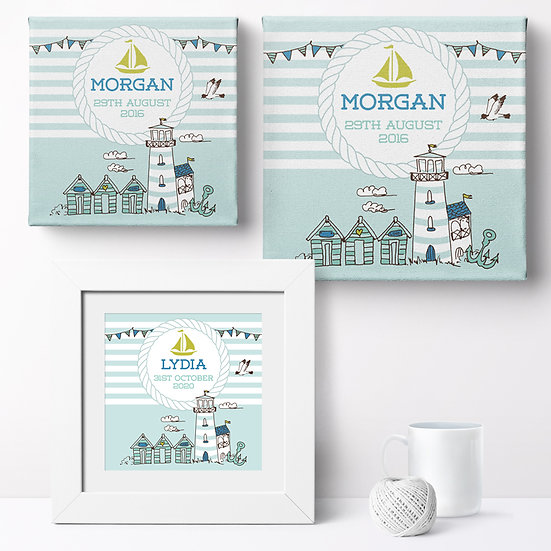 Personalised 'Nautical' Prints and Canvases 1