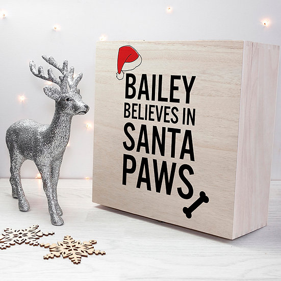 Personalised Pets Santa Paws Christmas Eve Box - first image