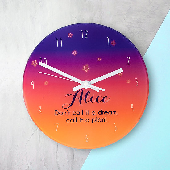 The Desert At Dusk Personalised Wall Clock view 1