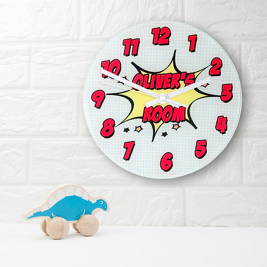 Pow! Personalised Comic Wall Clock view 1