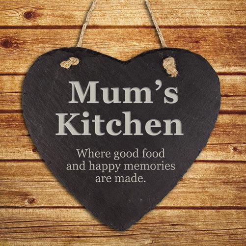 Personalised Mums Kitchen Hanging Slate Keepsake 1st View