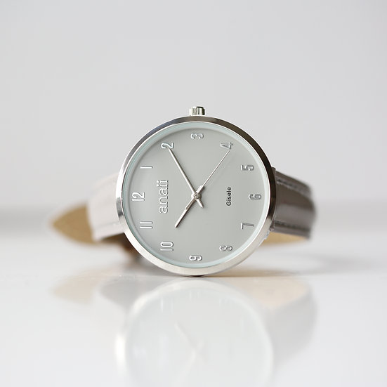 Personalised Anaii Watch in Flint Grey 1