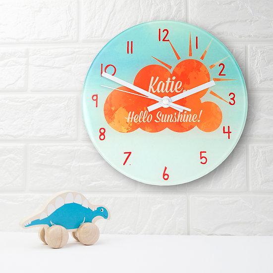 Hello Sunshine Personalised Wall Clock view 1