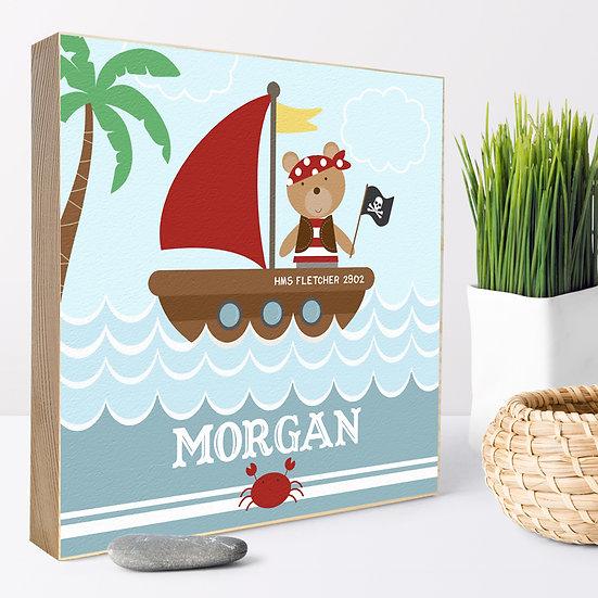 Personalised 'Pirate Bear' Picture Blocks