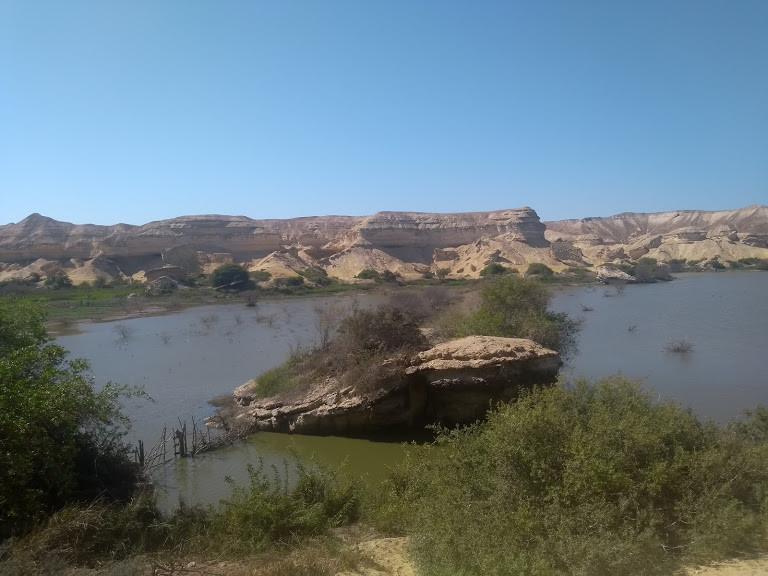 Namibe Arch lagoon (Angola).