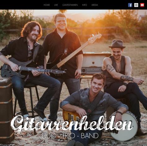 """Website """"Gitarrenhelden"""""""