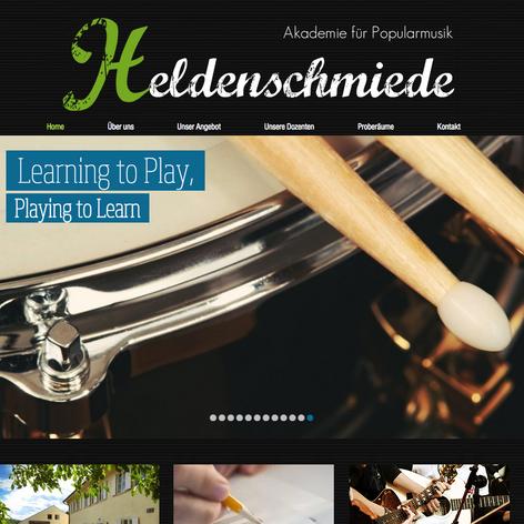 """Website """"Heldenschmiede"""""""