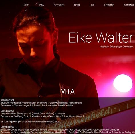 """Website """"Eike Walter"""""""