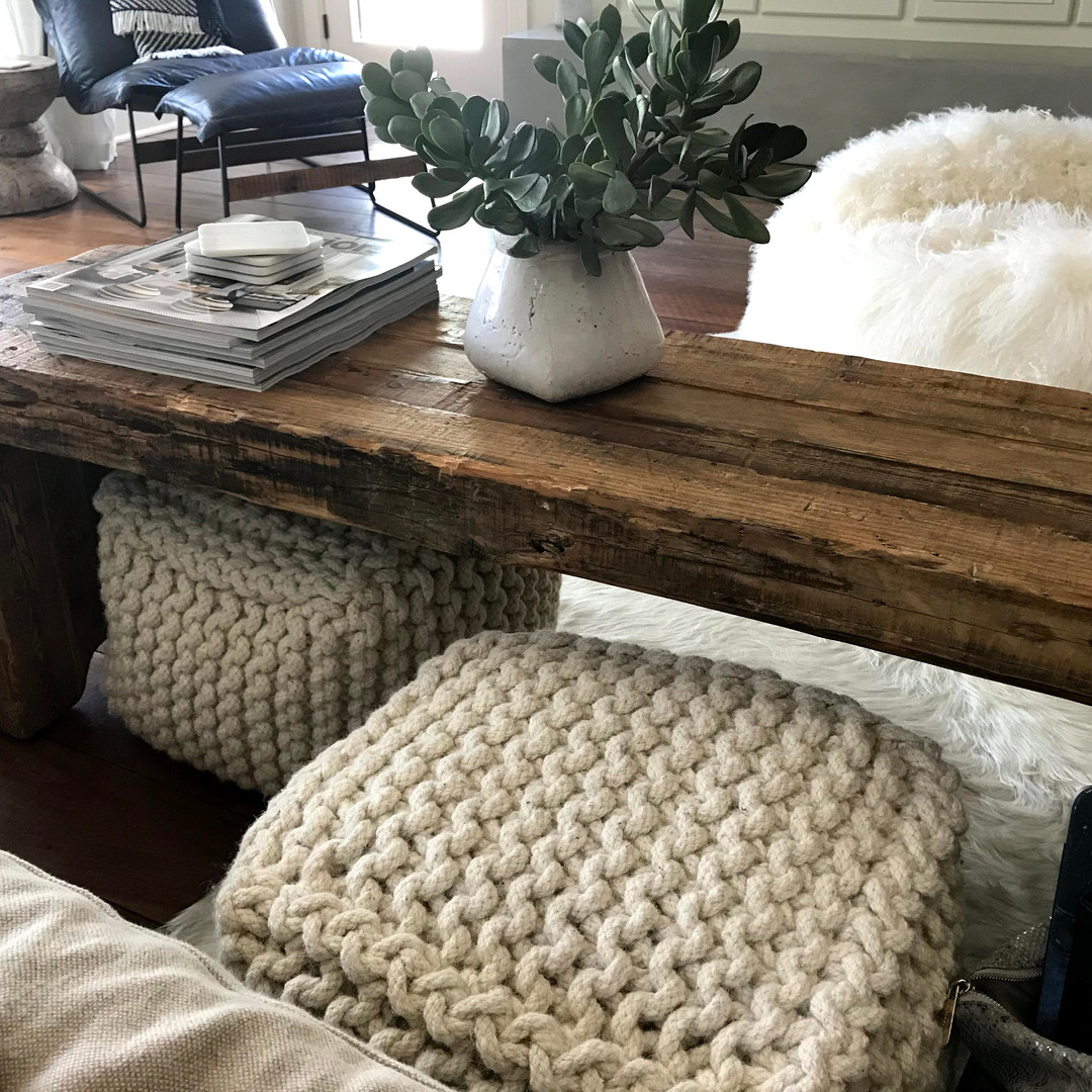 Wood and Ottomans