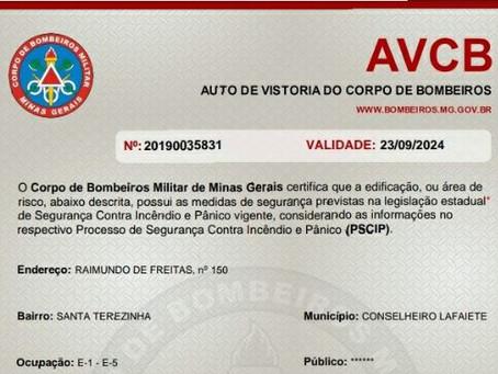 Serviço de engenharia da Defesa Civil disponibiliza projeto e consegue AVCB para escola de Lafaiete.