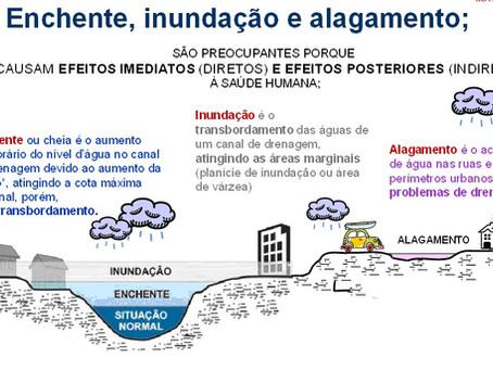 Entenda a diferença entre enchente, inundação e alagamento
