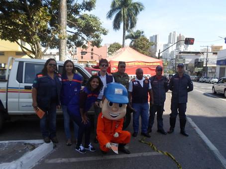 DEFESA CIVIL DE LAFAIETE REALIZA CAMPANHA PARAOPEBA FIRE STOP