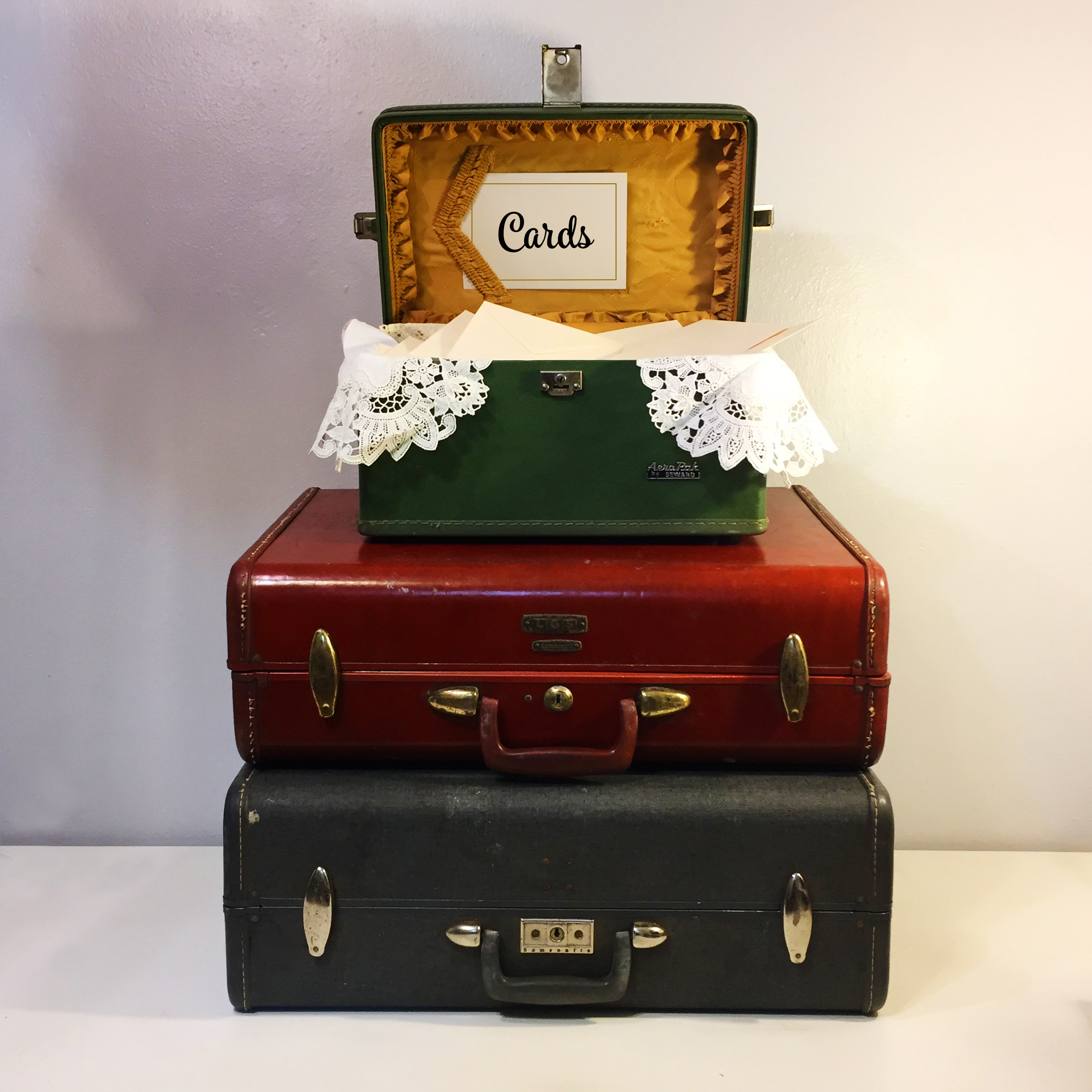 Vintage Green Luggage