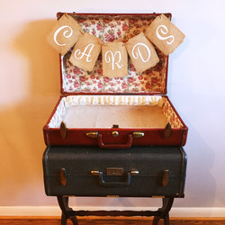 Red Antique Suitcase