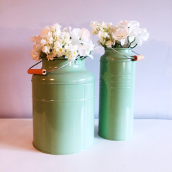 Green Flower Container