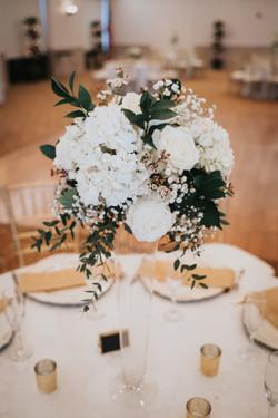 Clear Pilsner Vases with Floral