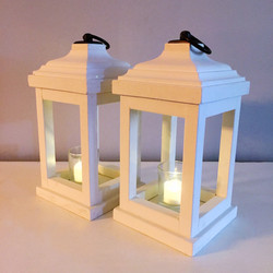 White Wood Lanterns