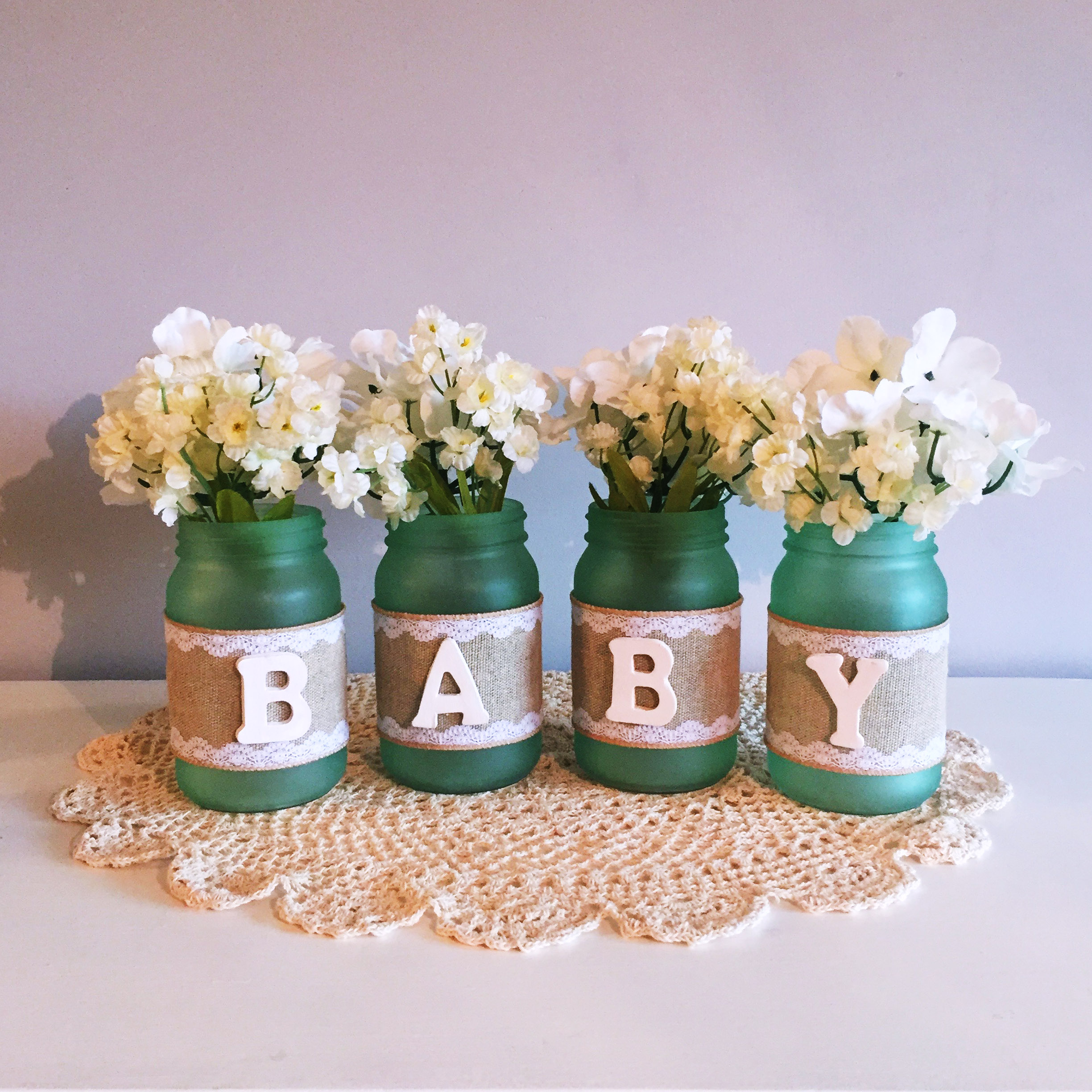 """Baby"" Shower Mason Jars"