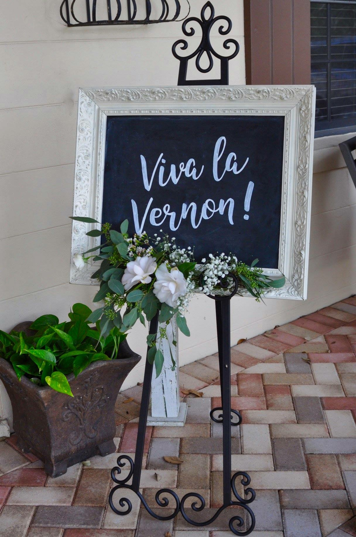 White Chalkboard Sign