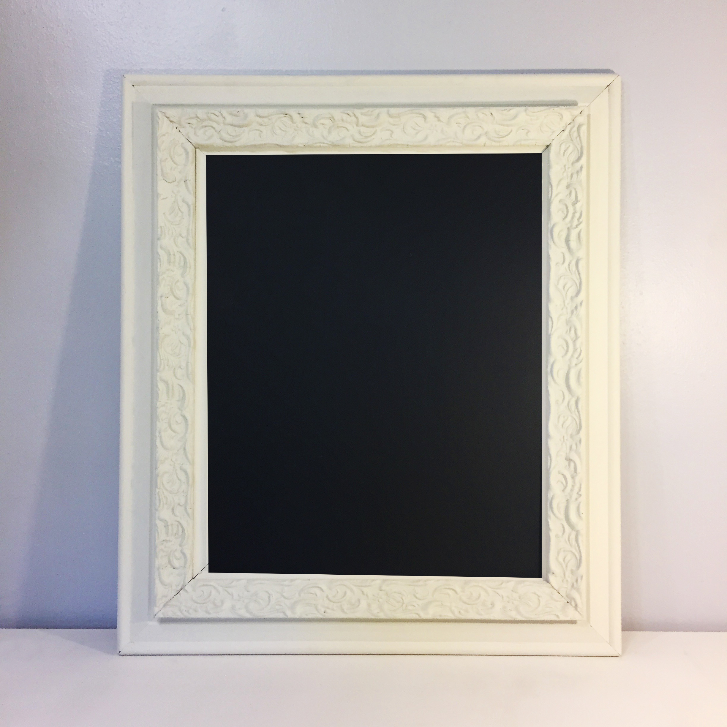 Antique White Chalkboard Frame